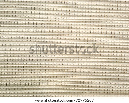 Light canvas background, close up, macro view - stock photo