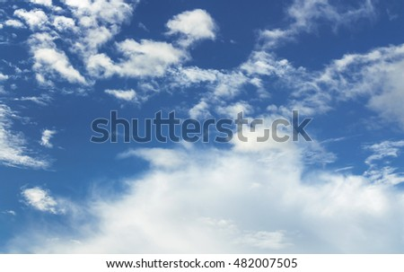 Light cloud on blue sky