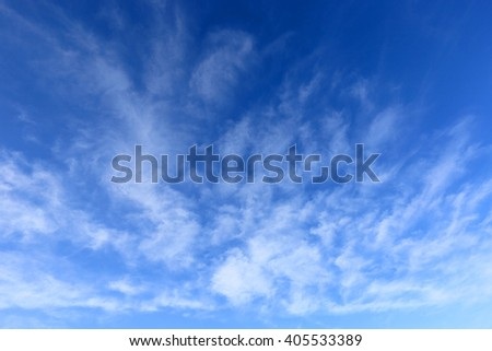 light clouds in blue sky - stock photo
