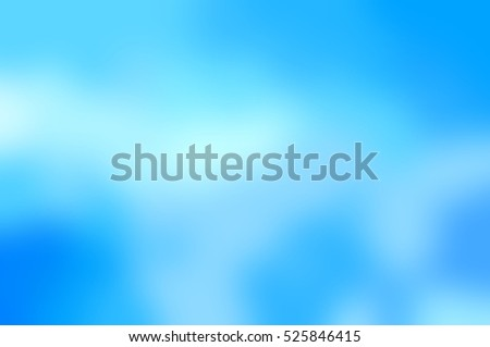 Light clouds on a bright blue sky. Winter blurred background. Abstract texture.