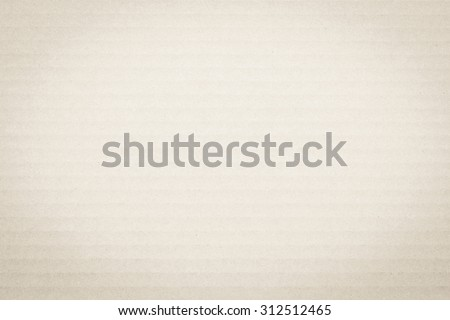 Light cream beige brown color tone corrugated cardboard paper texture patterned background: Recycled cardboard textured pattern grunge detailed backdrop in white creme toned colour with vignette