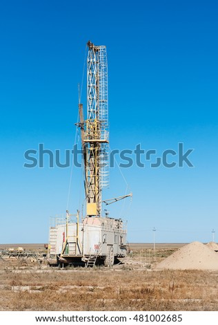 light duty drilling rig in desert