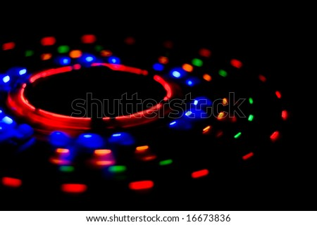 light-emitting diodes abstraction - stock photo