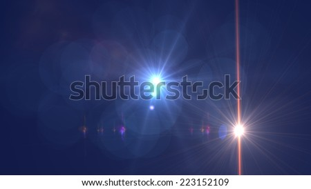 light flare special effect made in 3d software - stock photo
