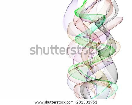 Light flow background. Raster version - stock photo