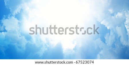 Light from heaven. Abstract background. - stock photo
