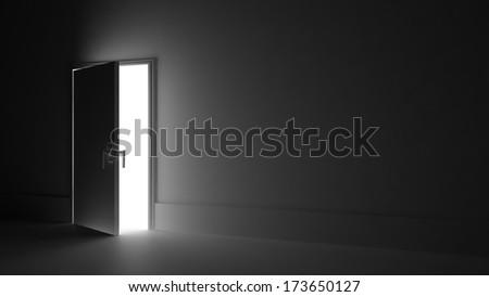 Light Open Door Dark Room Stock Illustration 173650127 Shutterstock