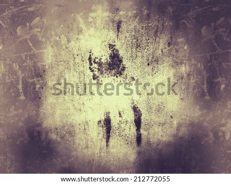 Light gold yellow grunge cement wall for background