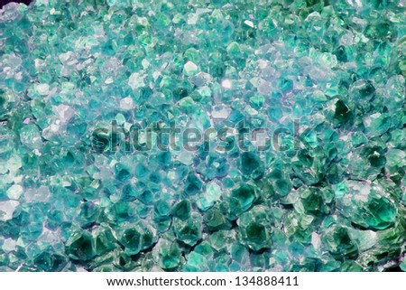 Light Green Amethyst Cluster Background - stock photo