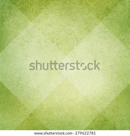light green background, white diamond abstract design, vintage texture - stock photo