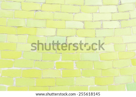 Light Green color tone ceramic tiles texture with filling, random size - stock photo