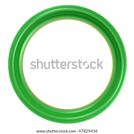 Light green frame isolated on white background. Computer generated 3D photo rendering.