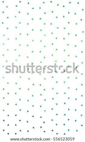 Light Green of small triangles on white background. Illustration of abstract texture of triangles. Pattern design for banner, poster, cover.