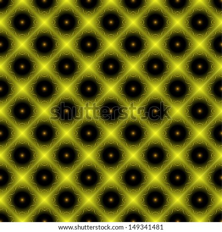 Light green seamless pattern on a dark background