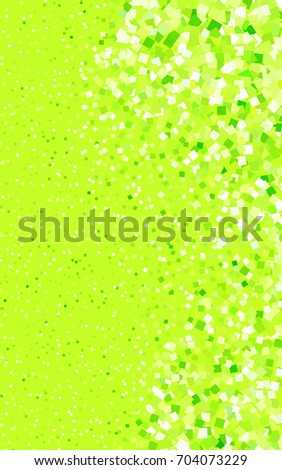 Light Green, Yellow background of rectangles and squares. Style quilt and blanket. Geometrical rectangular pattern. Repeating pattern with rectangle shapes.