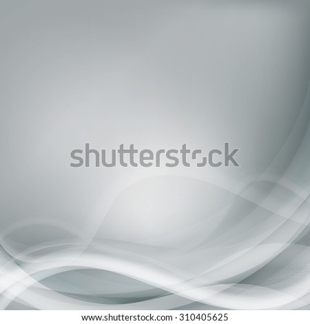 Light grey background with gradient and blend. Business style or technology clean design. Modern raster backdrop with grey gradient and wave. Template cover or page - stock photo