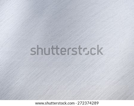 Light Grey Metal or Steel Texture with Reflection Stripes as Background - stock photo