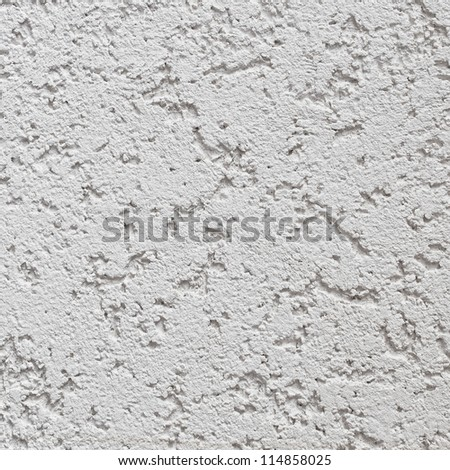 Light Grey Wall Stucco Texture, Detailed Natural Gray Coarse Rustic Textured Background Macro, Concrete Copy Space - stock photo