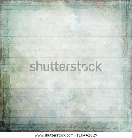 light grunge background texture with writing lines and taped frame - stock photo