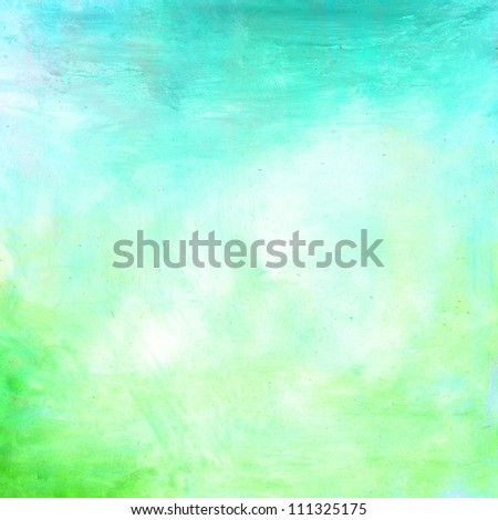light grunge green turquoise paint background texture - stock photo