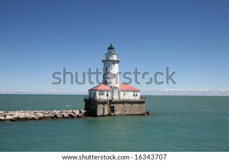 Light house in Lake Michigan