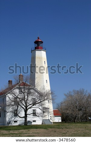 Light house in the winter