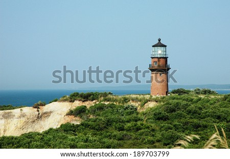 Light House Martha's Vineyard - stock photo