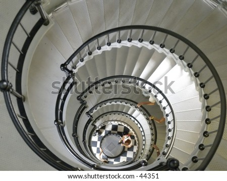 Light House stair case - stock photo