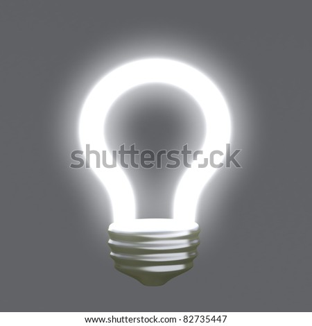Light idea bulb 3d - stock photo