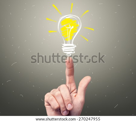 Light, idea, vision. - stock photo