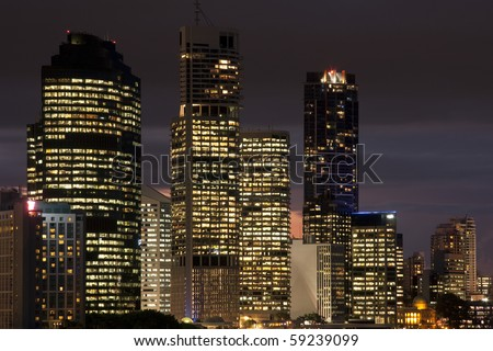 Light in Brisbane down town Australia - stock photo