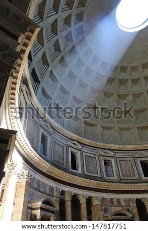 Light in Roman Pantheon          - stock photo