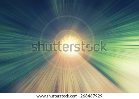 light in the end of tunnel,abstract background - stock photo
