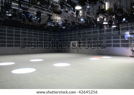 Light in the modern television studio.