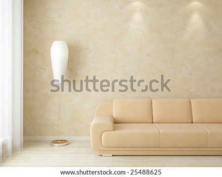 Light interior - living room - more versions in my portfolio - stock photo