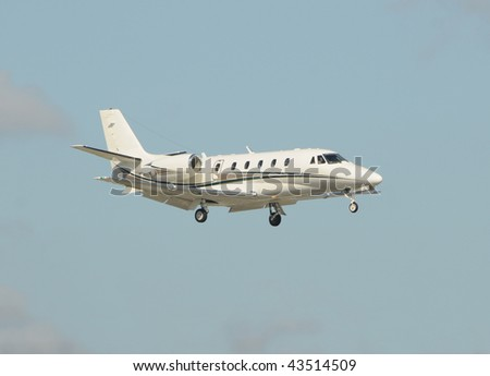 Light jet airplane for business charter service - stock photo