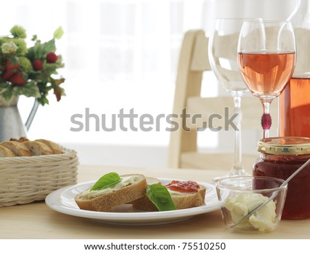 Light meal - stock photo