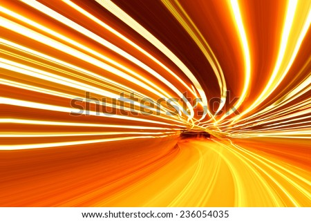 light motion - stock photo
