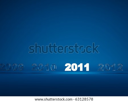 Light new year symbol on blue background