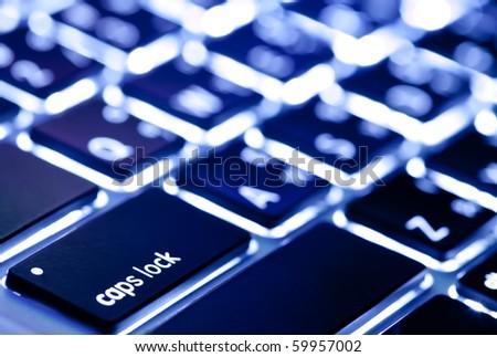 Light of Keyboard - stock photo