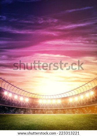 light of stadium - stock photo