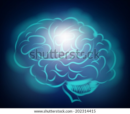 Light of the human brain. Abstract illustration - stock photo