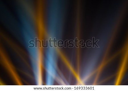Light of the spotlight that shines on the sky - stock photo