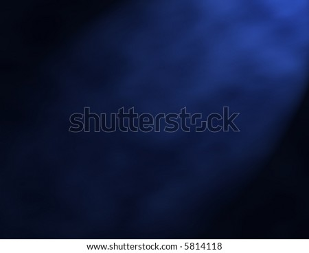 light on blue backdrop - stock photo