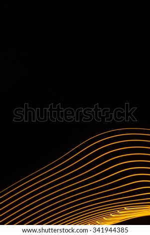 light painting abstract pattern - stock photo
