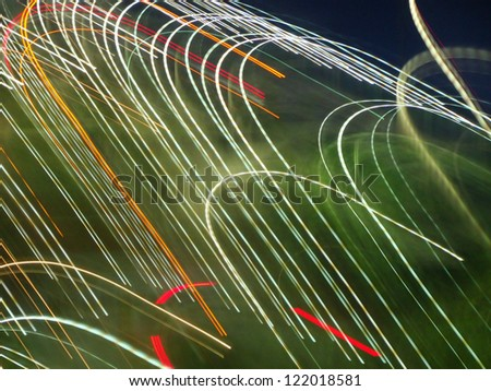 light painting on street lights
