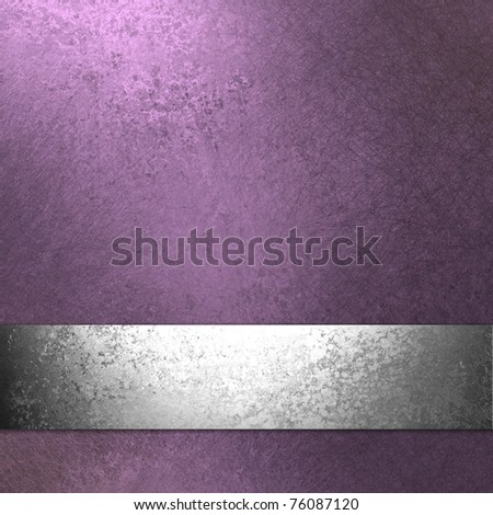 light pastel  purple background with old vintage grunge texture, metallic silver ribbon, and copy space to add your own text or title to website template - stock photo