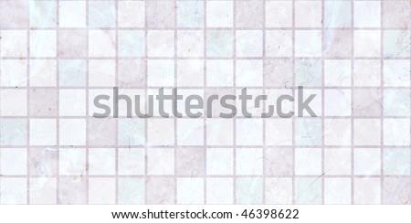 light pink Ceramic tiles a mosaic - stock photo