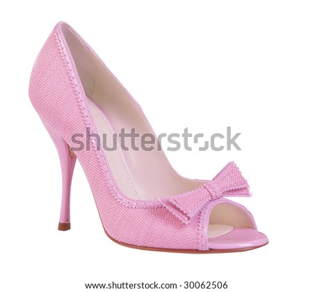 light pink shoe isolated on white background