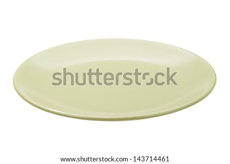 Light plate isolated on white - stock photo
